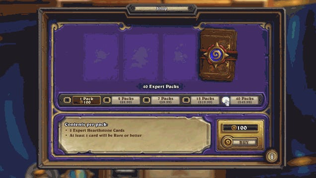 What It's Like To Spend $50 On Hearthstone Cards