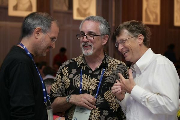When Two Worlds Collide: Jobs and Gates Hang Out Together