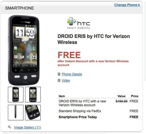 Android's Budget Future, Now: Droid Eris Free On Contract