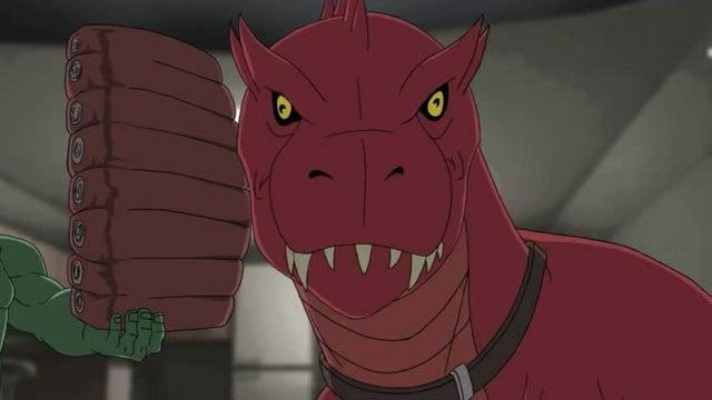 Devil Dinosaur stars on Hulk plus the return of Friendship is Magic