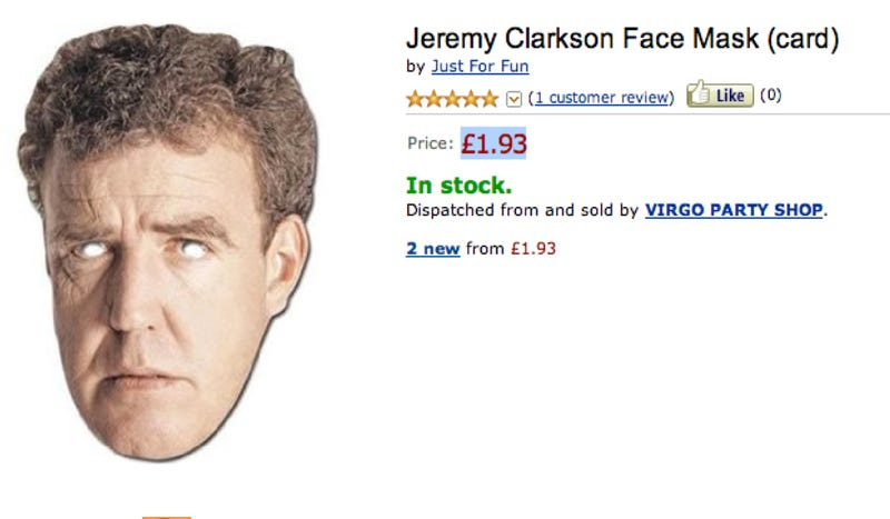 This Jeremy Clarkson Mask Will Be Your Next Halloween Costume