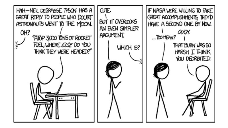 XKCD takes a serious jab at NASA