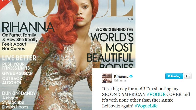 Rihanna Tweets About, Then Deletes, Second Vogue Cover