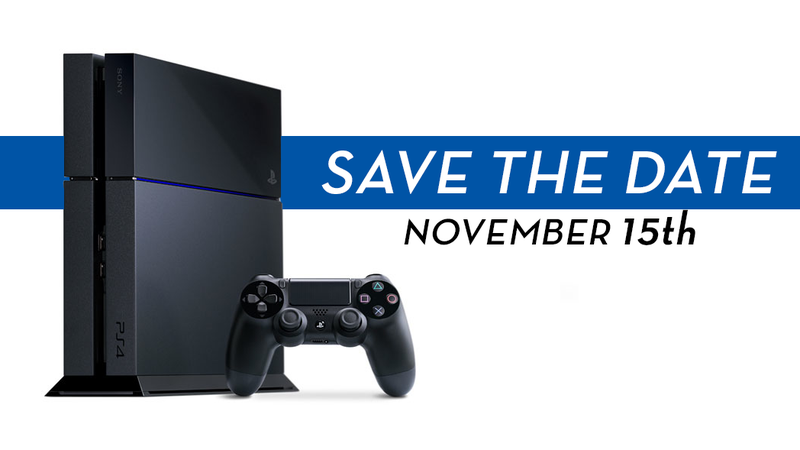 PS4 Release Date Is November 15 In North America