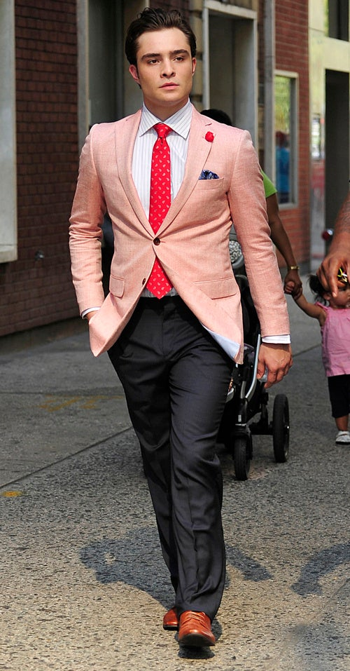 Chuck Bass Is So, So Pretty In Pink
