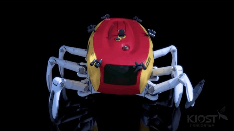 Scientists explore the ocean floor with half-crab-half-car behemoth