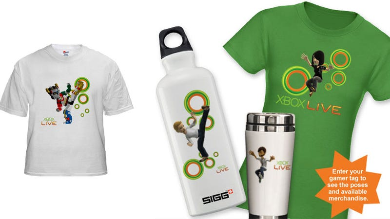 Wear Your Xbox Live Avatar on Your Chest, Water Bottle, or Coffee Mug