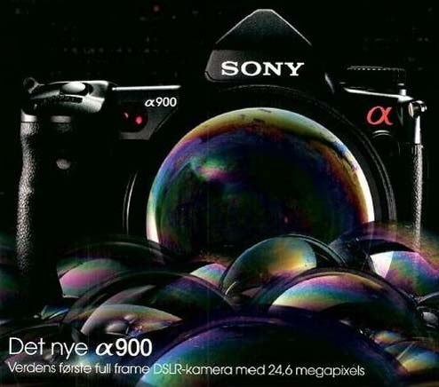 Sony A900 Ad Leaked, Actual Camera Coming September 10th?