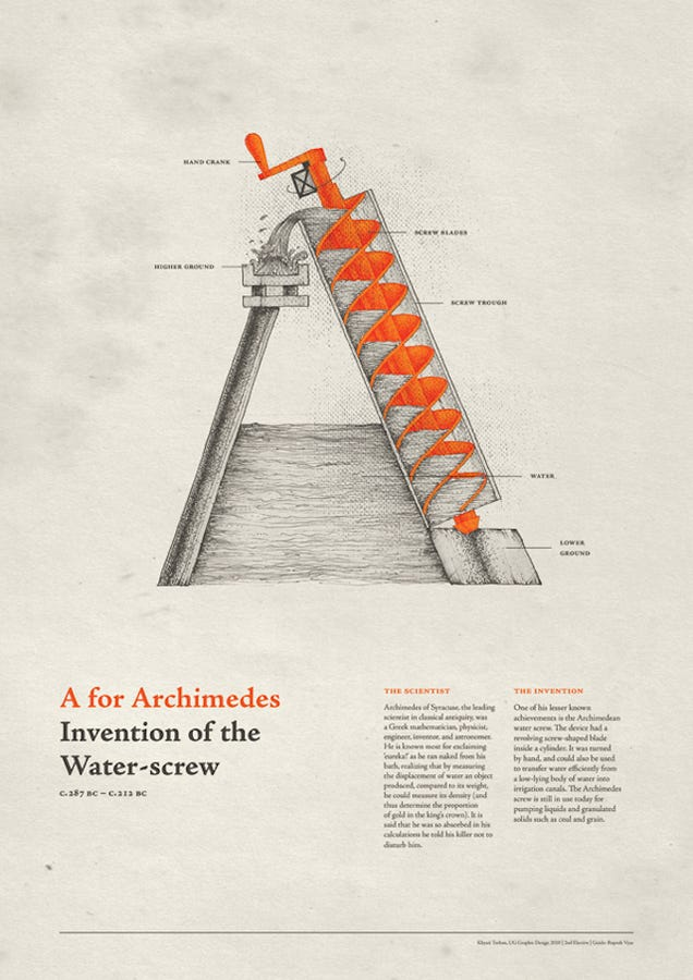 An Intricate Typeface Made Out of History's Greatest Inventions
