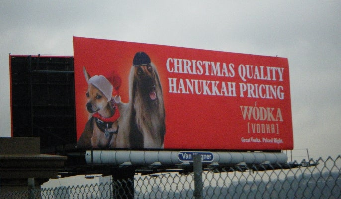 The 'Christmas Quality, Hanukkah Pricing' Vodka Billboard Is Dead
