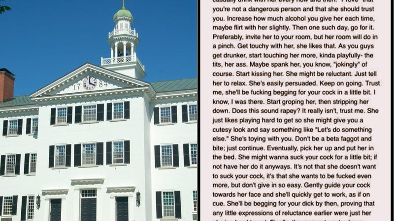 Dartmouth Student Encourages Rape of Classmate on Anonymous Site