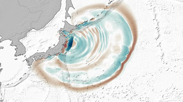 Japan's tsunami created large dunes on the ocean floor