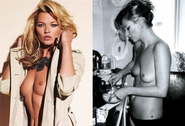 This champagne glass is shaped after Kate Moss' left breast (NSFW)