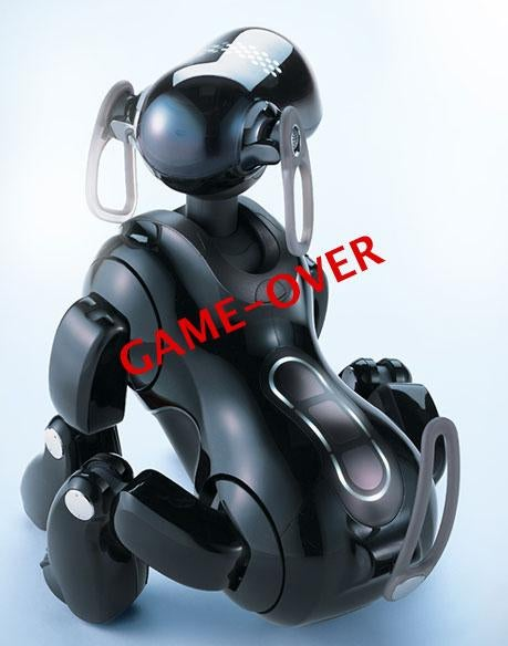 Aibo Rolls Over, Plays Dead