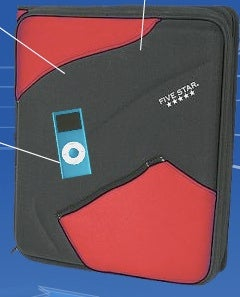 New Five Star Notebook Packs Speakers and MP3 Player Pocket for Back to School