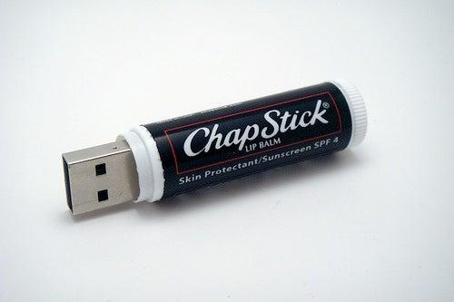 2GB USB Flash Drive Chapstick Mod