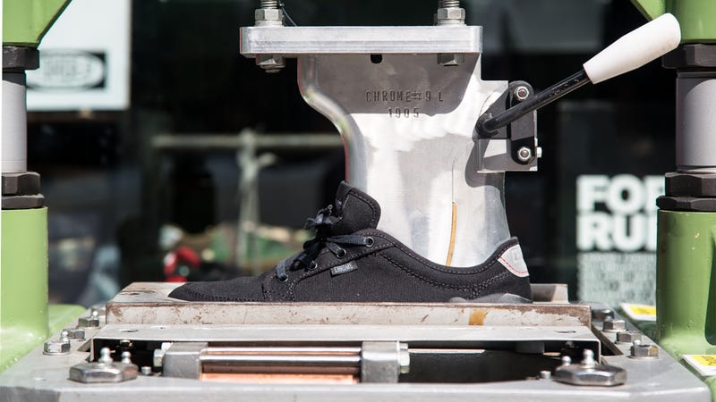 How 70 Year Old Machines Make Chrome's Tough, Cheap Sneakers