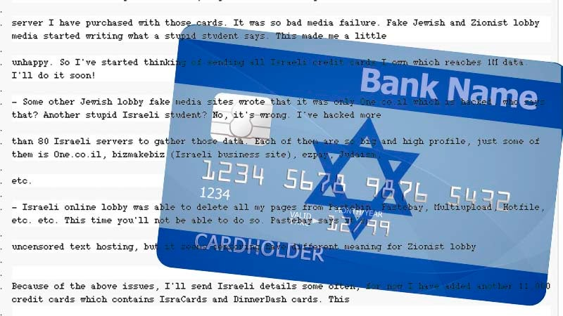 Israel Basically Threatens to Assassinate Teen Hacker Who Leaked Israelis' Credit Cards