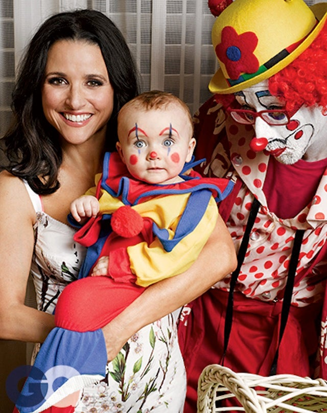 Julia Louis-Dreyfus Bangs a Clown in GQ