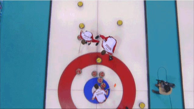 Russian Curler Eats It