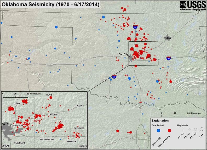 Oklahoma Now Has More Small Earthquakes than California