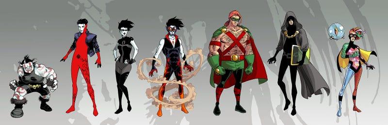 Sandman's Endless reimagined as superheroes
