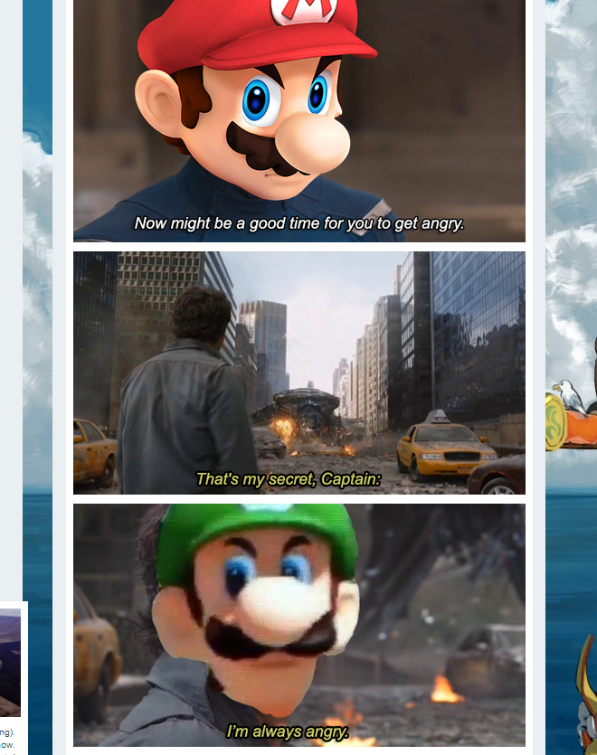 The Internet Reacts To Luigi's Death Stare