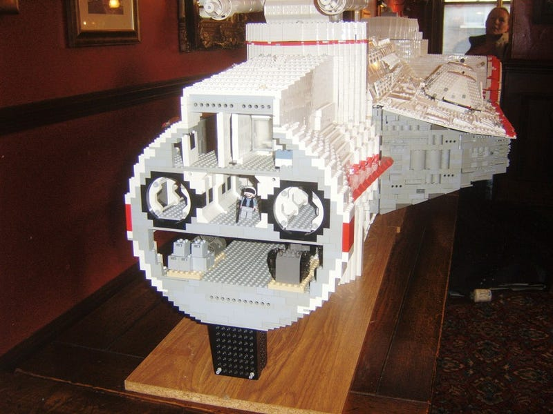 Crazy Guy Making Huge Minifig Scale Lego Corellian Corvette