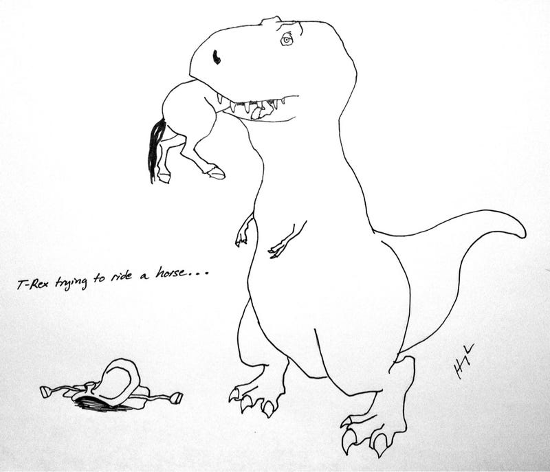 Try as he might, there are some things T-Rex just can't do
