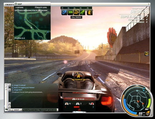First Screen from NFS MMO Shows Customizable UI