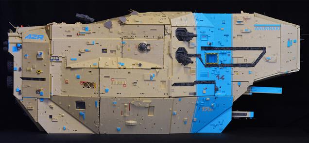 Awesome LEGO Dropship Even Has a Mecha Hangar