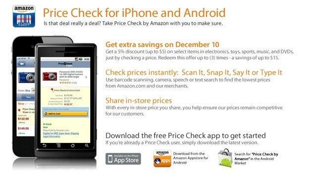 Use Amazon's Price Check App and Get Up to $15 Off Your Purchases