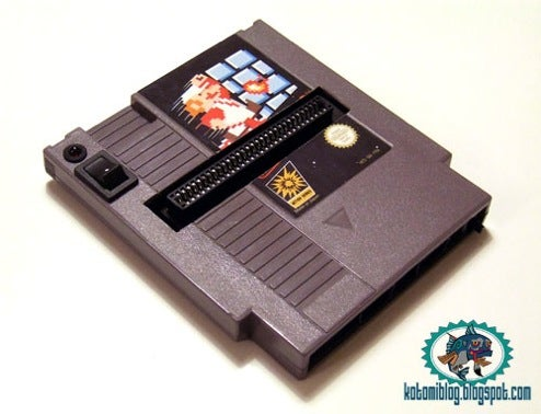 NES Cartridge Modded into NES System. Space-Time Remains Intact