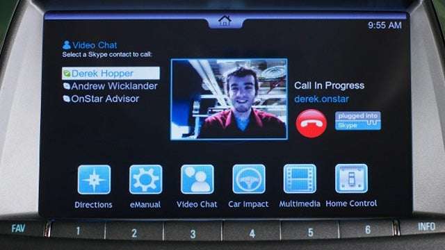 OnStar To Demo In-Car Video Chats—That Sounds Safe, Right?