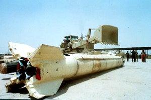 Qaddafi Fires Giant Bottle Rocket, Misses