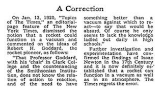 The greatest newspaper correction ever written (49 years too late)