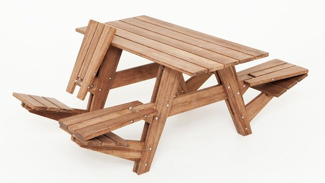The Perfect Picnic Table Goes Both Ways