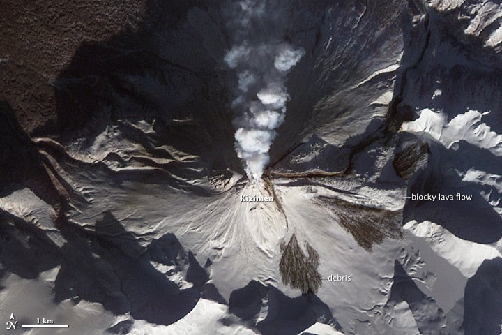 Breathtaking Photos of Four Volcanoes Erupting Simultaneously in Russia