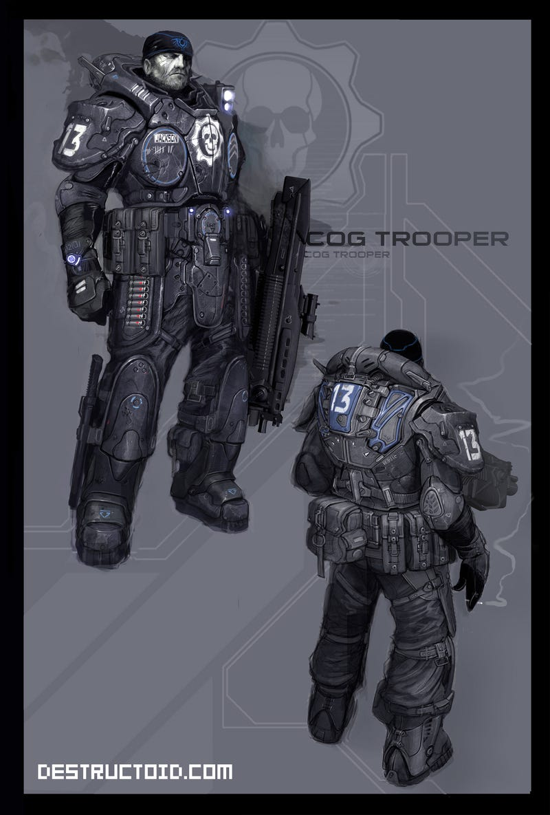 The awesome power of battlesuit and armor concept art!