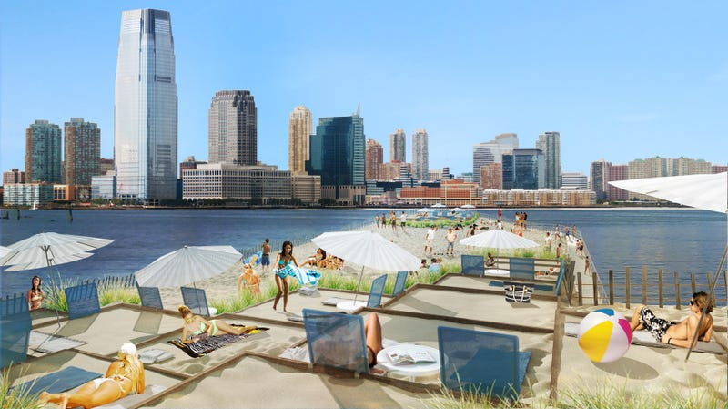 The Plan to Build a Floating Beach That Travels Around NYC's Shores