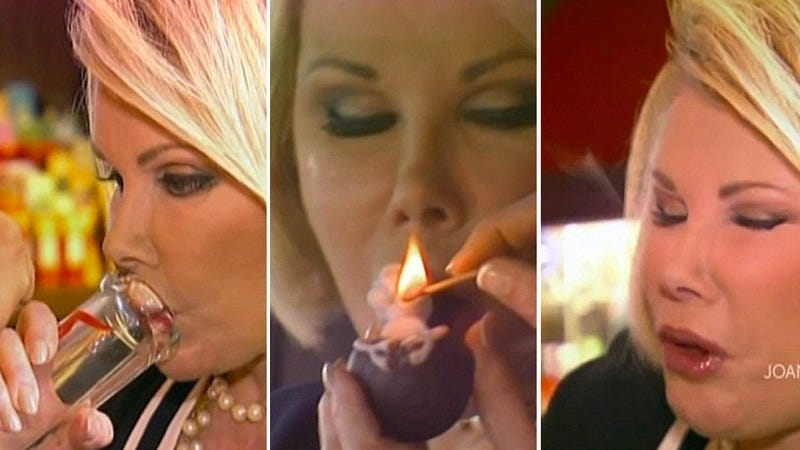 Here Is Joan Rivers Smoking That Dank, Sticky Icky Weed