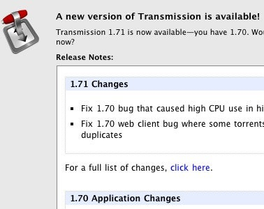 Transmission 1.7 Update Fixes Memory Leaks, Improves Web-Based Remote Control