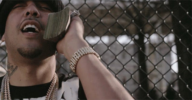 Johnny Manziel Does The Money Phone Very Poorly