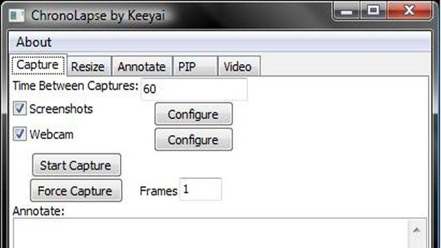 Chronolapse Creates Time Lapse Videos Using Your Screen or Webcam
