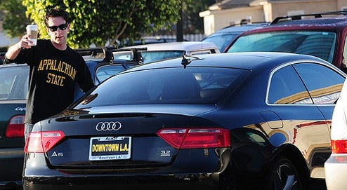 B.J Novak Picks Up An Audi A5