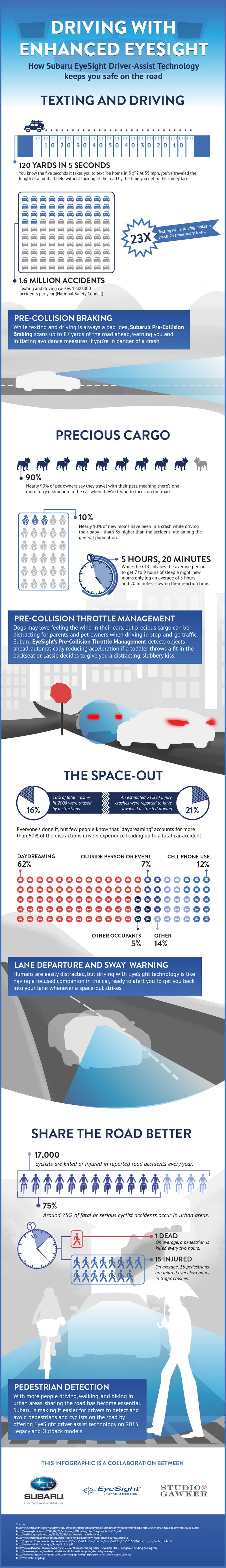 This Infographic Shows Why Driving is Safer With a Second Set of Eyes