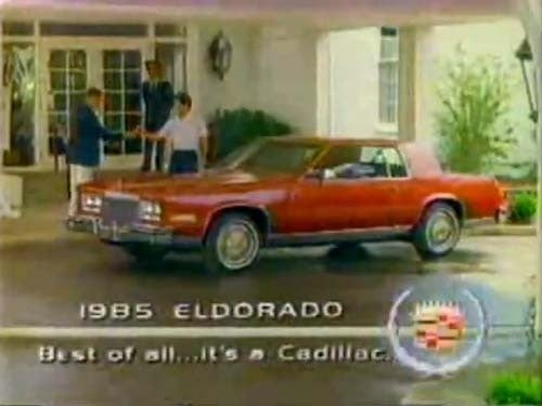 You've Dreamed Eldorado Dreams... and 1985 Is Your Eldorado Reality!
