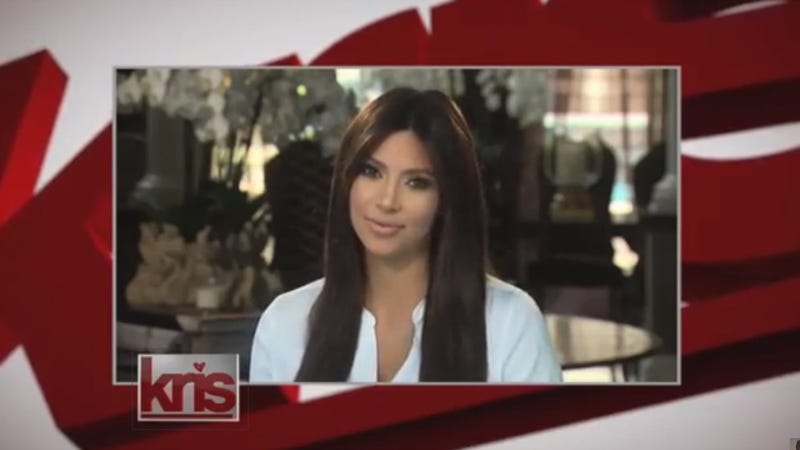 Kim Kardashian Made A Bullshit Video Appearance At The End of Kris