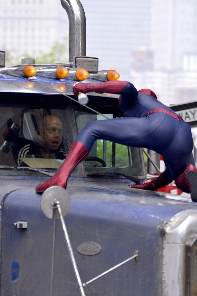 Brand New Photos of Spider-Man's Battle with Paul Giamatti's Rhino!