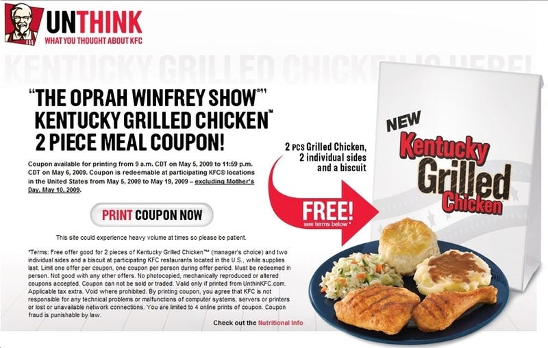 Oprah KFC Coupon Riot!